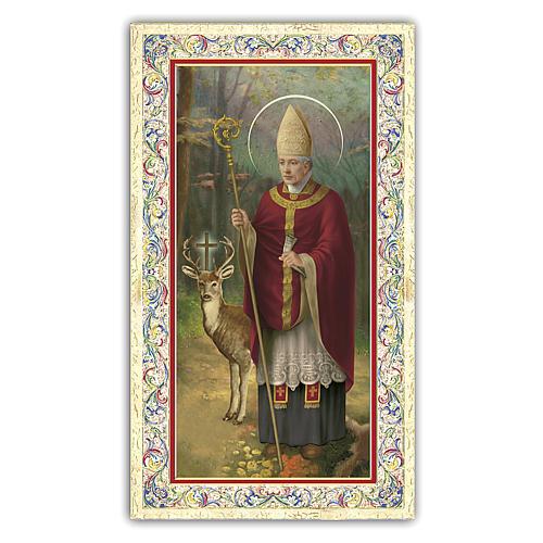 Santino Sant'Uberto 10x5 cm ITA 1