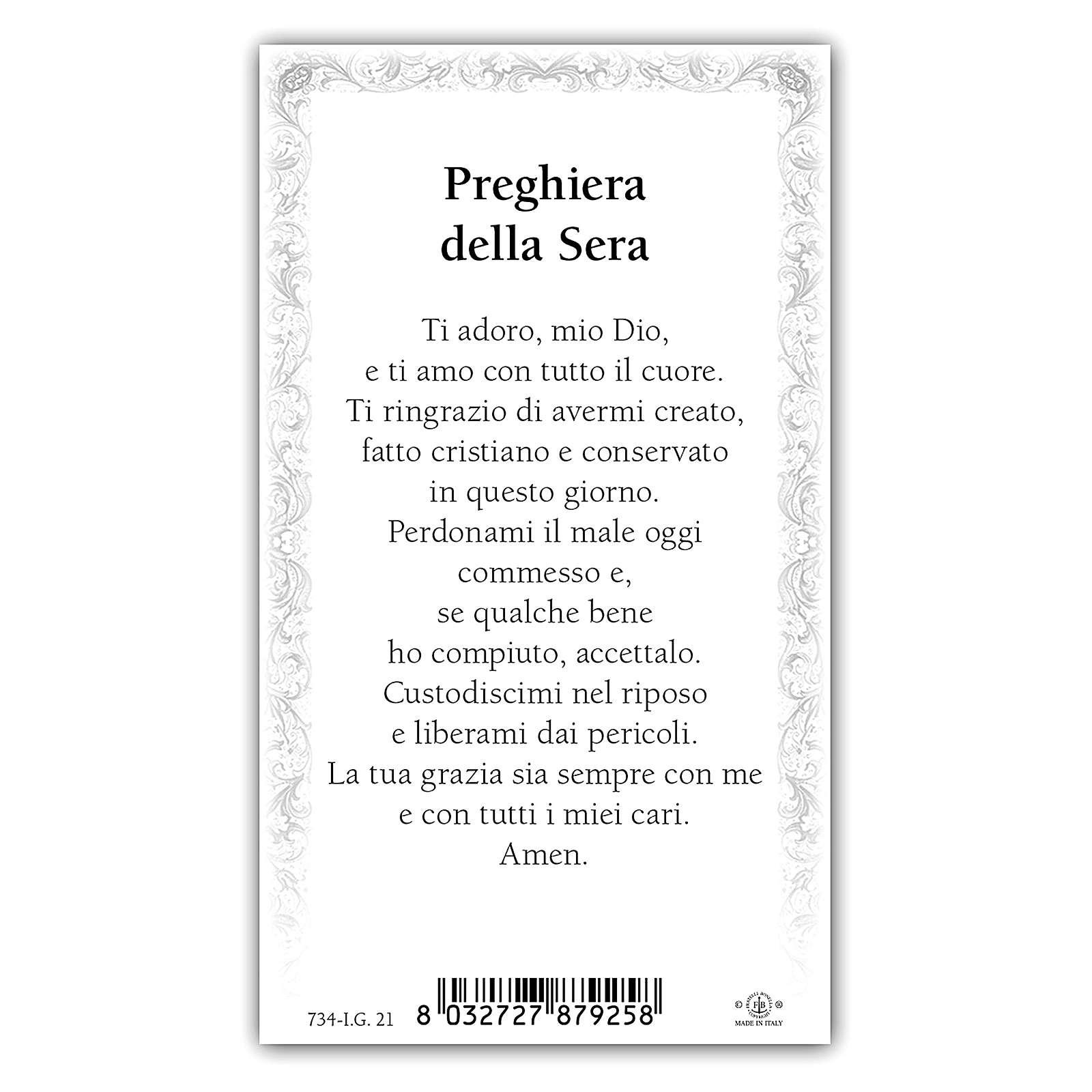Santino piccolo Samuele inginocchiato in preghiera 10x5 cm ITA 4
