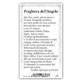 Holy card, Our Lady of Fatima, The Angel's Prayer of Fatima ITA 10x5 cm s2