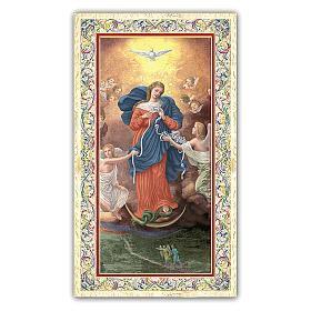 Estampa Virgen Desatanudos 10 x 5 cm ITALIANO s1