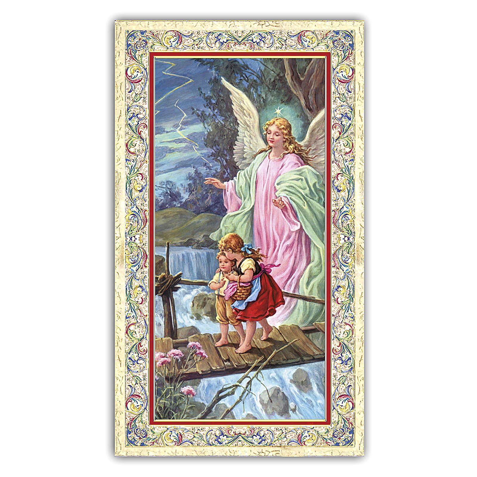 Estampa religiosa Ángel de la Guarda 10x5 cm ITA 4