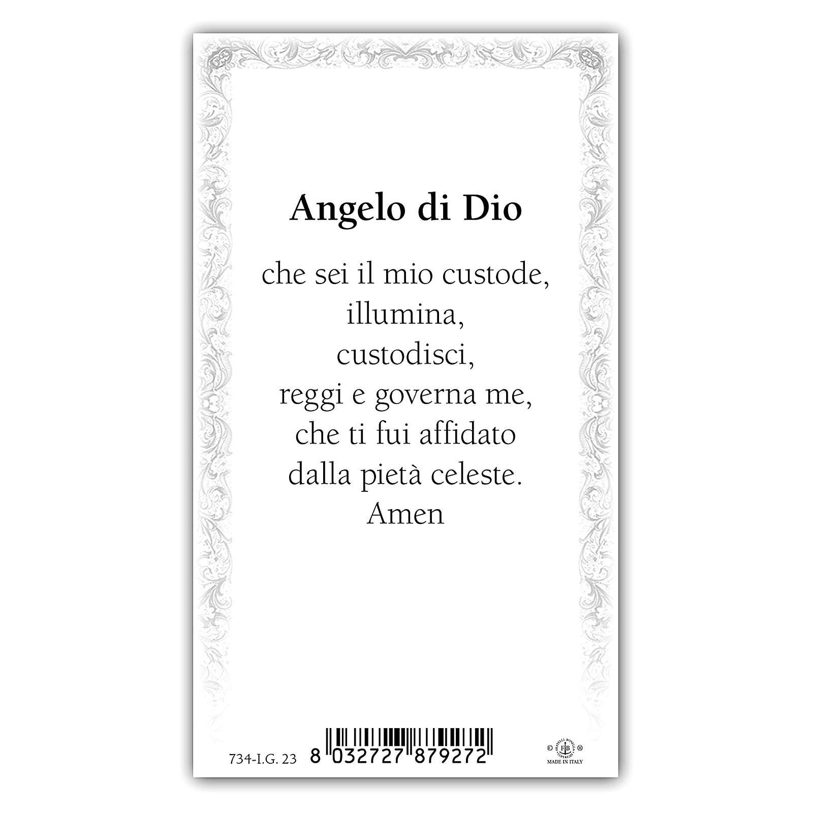 Santino Angelo Custode 10x5 cm ITA 4