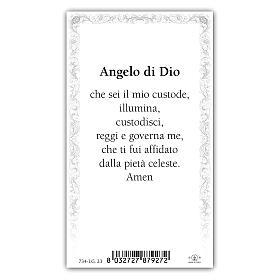 Santino Angelo Custode 10x5 cm ITA s2