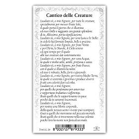Holy card, Saint Francis, Canticle of the Sun ITA 10x5 cm s2