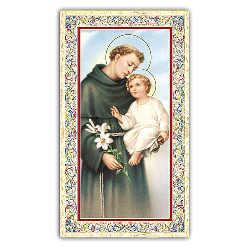 Holy card, Saint Anthony of Padua, Prayer ITA 10x5 cm 1