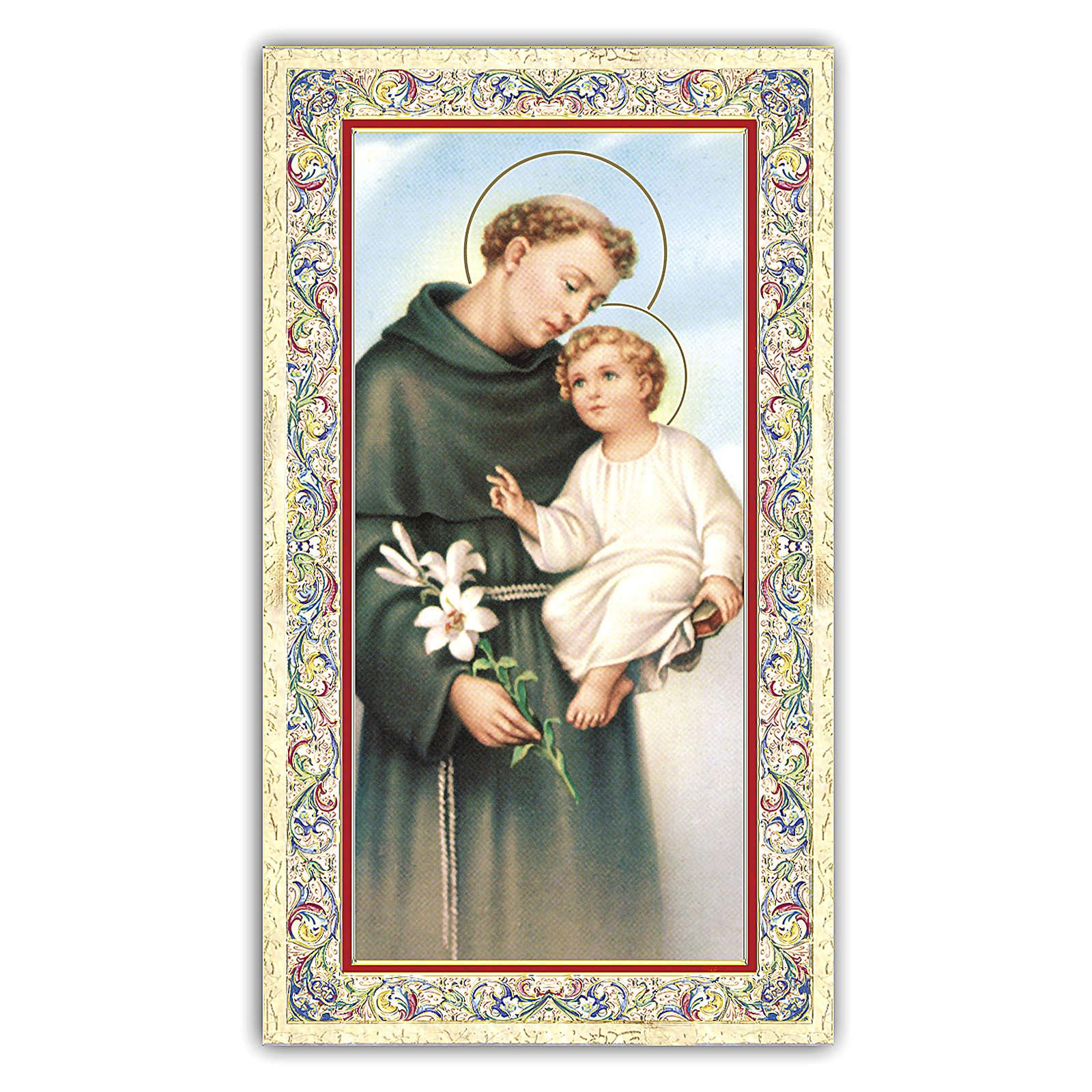 Holy card, Saint Anthony of Padua, Prayer ITA 10x5 cm 4