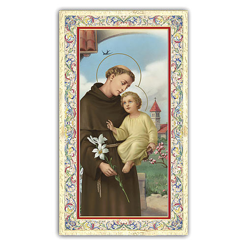Holy card, Saint Anthony of Padua, Si Quaeris prayer ITA 10x5 cm  1