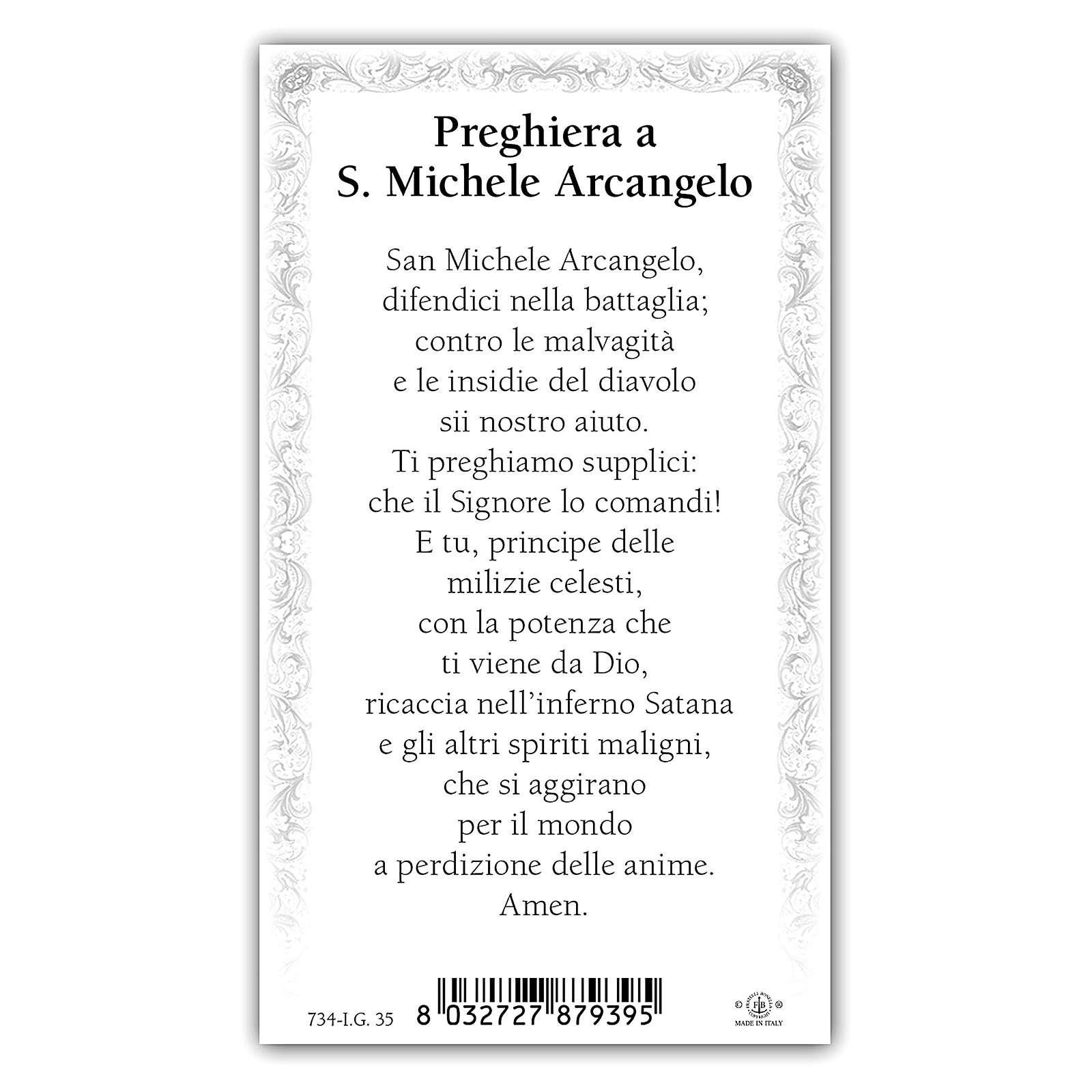 Image de dévotion Saint Michel archange 10x5 cm 4