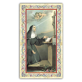 Holy cards: Holy card, Saint Rita of Cascia, Prayer ITA 10x5 cm