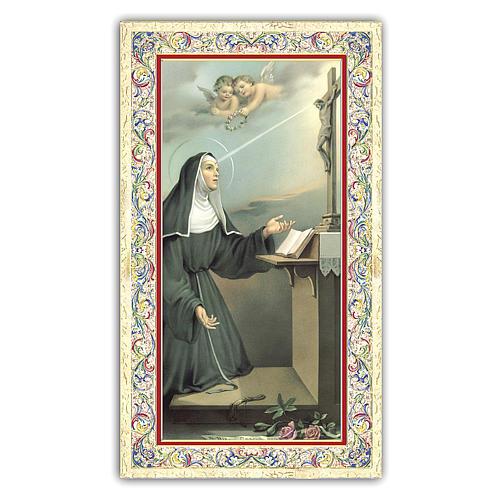 Estampa religiosa Santa Rita de Casia 10x5 cm ITA 1