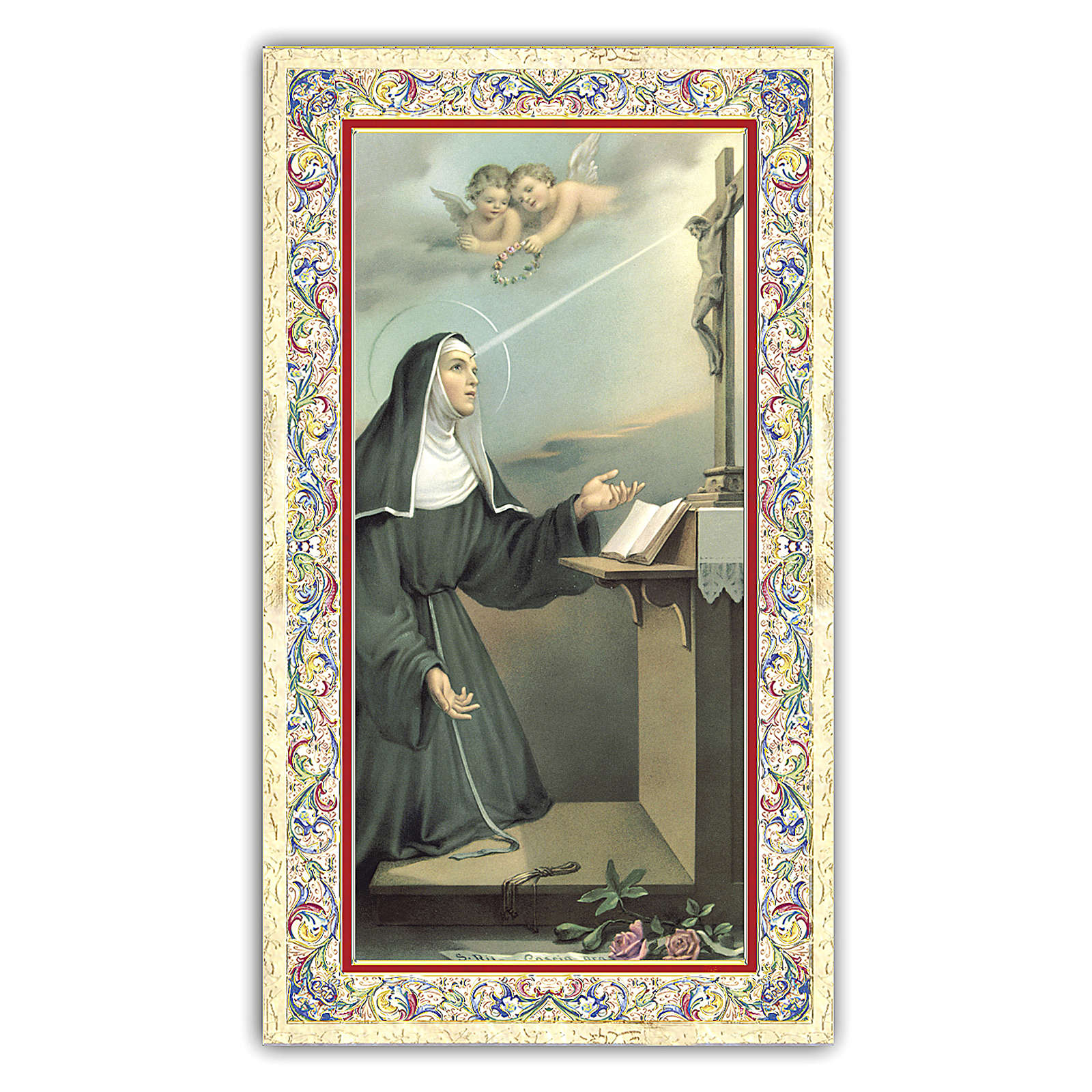 Holy card, Saint Rita of Cascia, Prayer ITA 10x5 cm  4