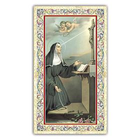 Holy card, Saint Rita of Cascia, Prayer ITA 10x5 cm  s1