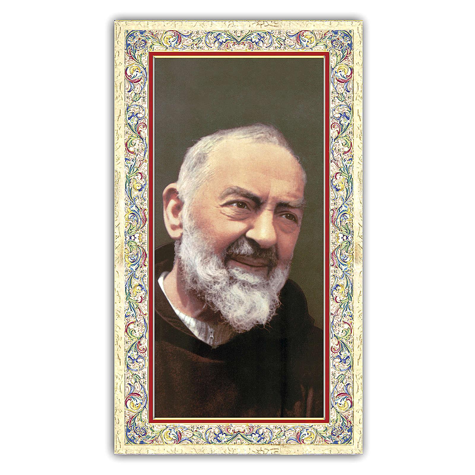 Estampa religiosa Padre Pío 10x5 cm ITA 4