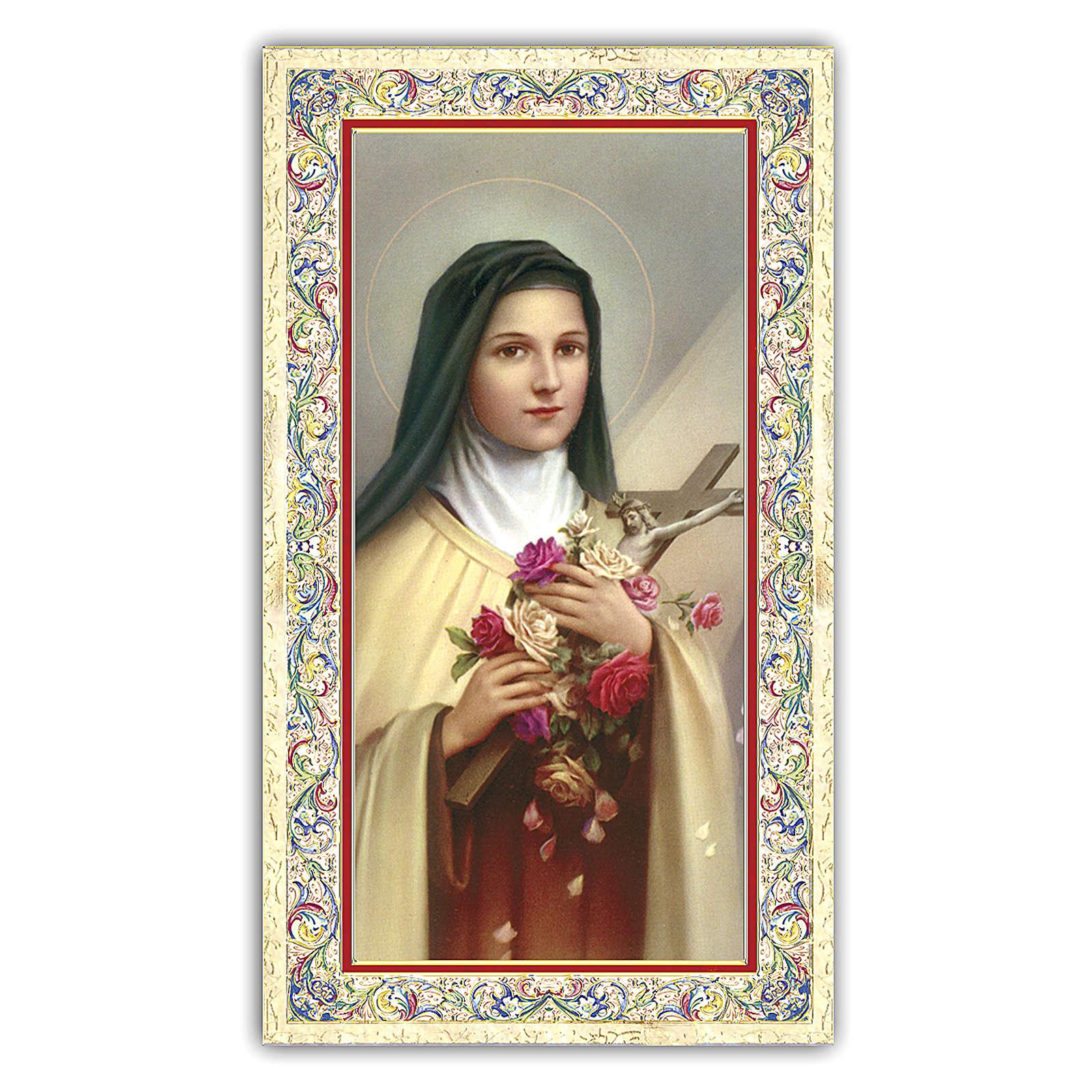 Estampa religiosa Santa Teresa del Niño Jesús 10x5 cm ITA 4