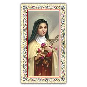 Holy card, Saint Therese of Lisieux, Prayer ITA 10x5 cm  s1