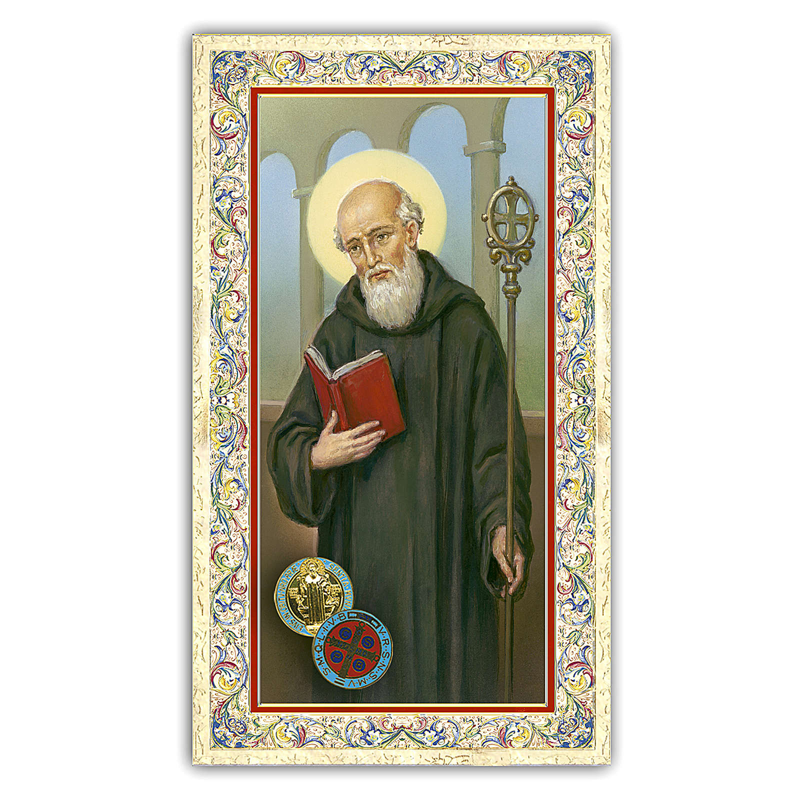 Holy card, Saint Benedict, Prayer ITA 10x5 cm  4