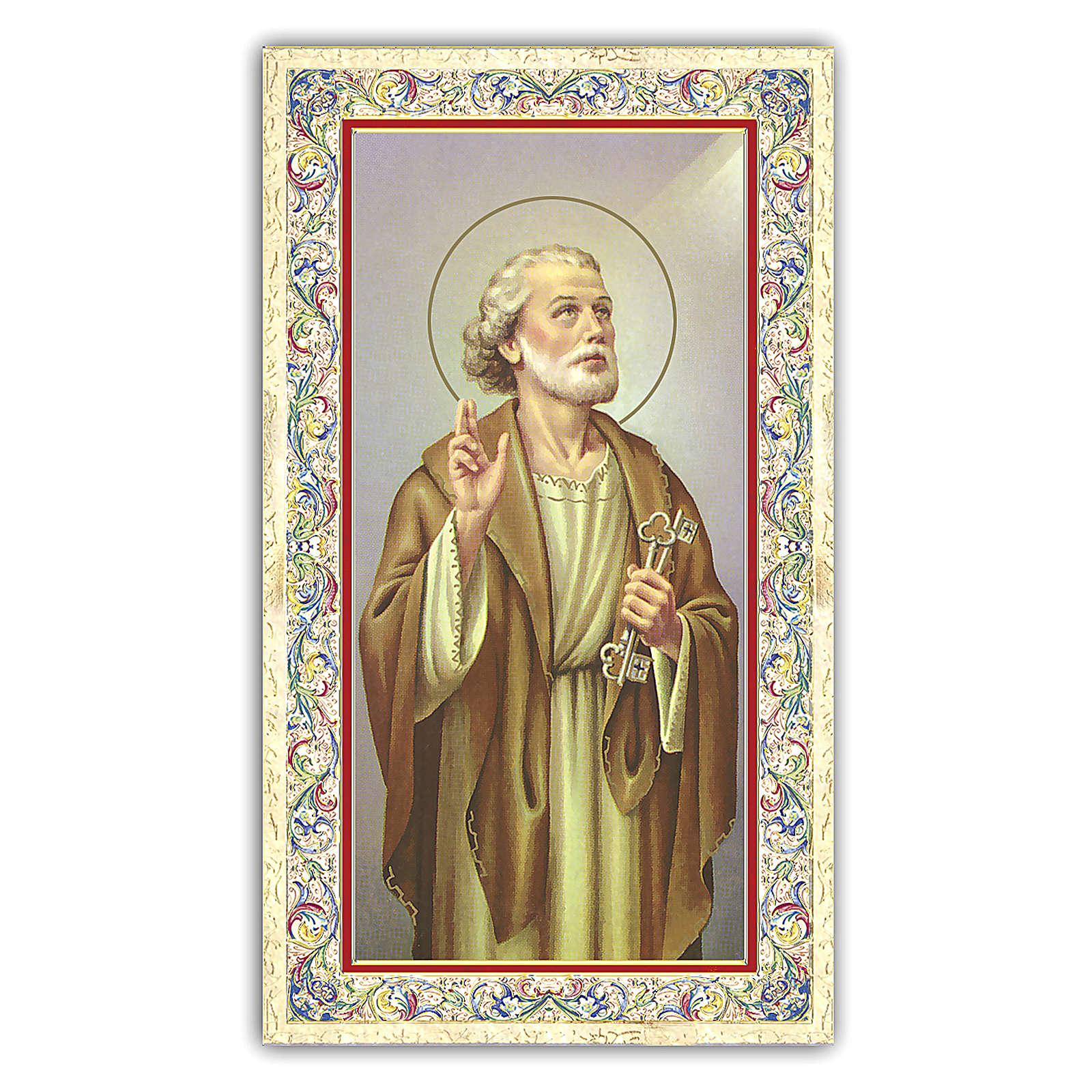 Estampa religiosa San Pedro Apóstol 10x5 cm ITA 4