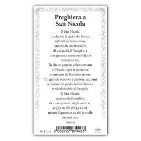Holy card, Saint Nicholas, Prayer ITA 10x5 cm  s2