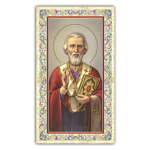 Holy card, Saint Nicholas, Prayer ITA 10x5 cm  1