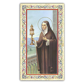 Santino Santa Chiara 10x5 cm ITA s1