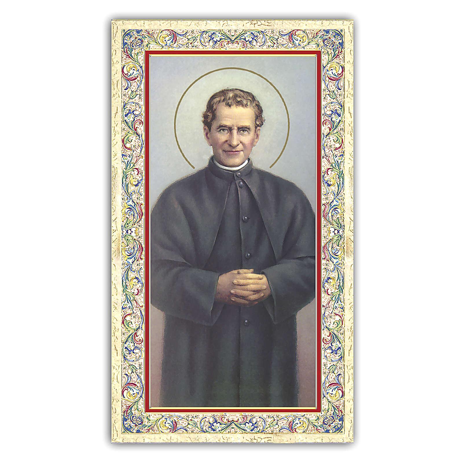 Estampa religiosa San Juan Bosco 10x5 cm ITA 4