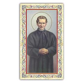 Estampa religiosa San Juan Bosco 10x5 cm ITA s1