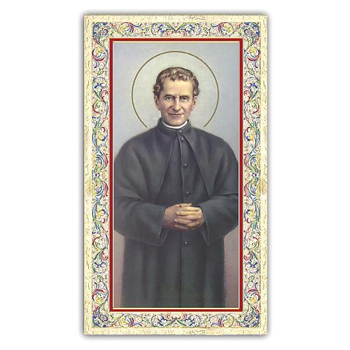 Estampa religiosa San Juan Bosco 10x5 cm ITA 1