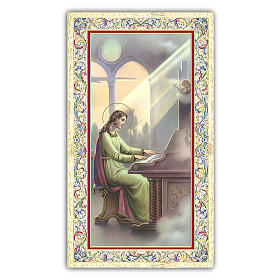Holy card, Saint Cecilia, The Musician's Prayer ITA 10x5 cm  s1