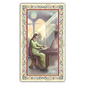 Estampa religiosa Santa Cecilia 10x5 cm ITA s1