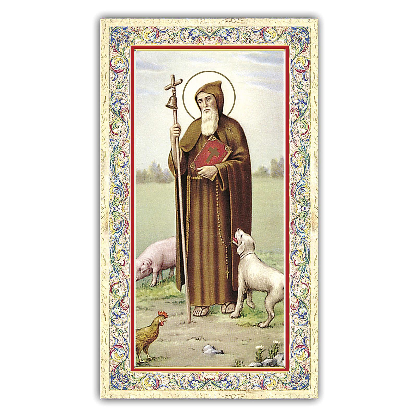 Santino Sant'Antonio Abate 10x5 cm ITA 4
