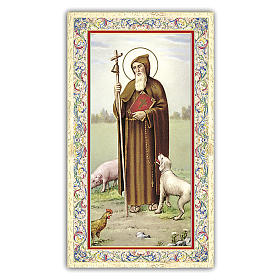 Holy card, Saint Anthony the Abbot, Prayer ITA 10x5 cm s1
