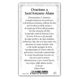 Holy card, Saint Anthony the Abbot, Prayer ITA 10x5 cm s2