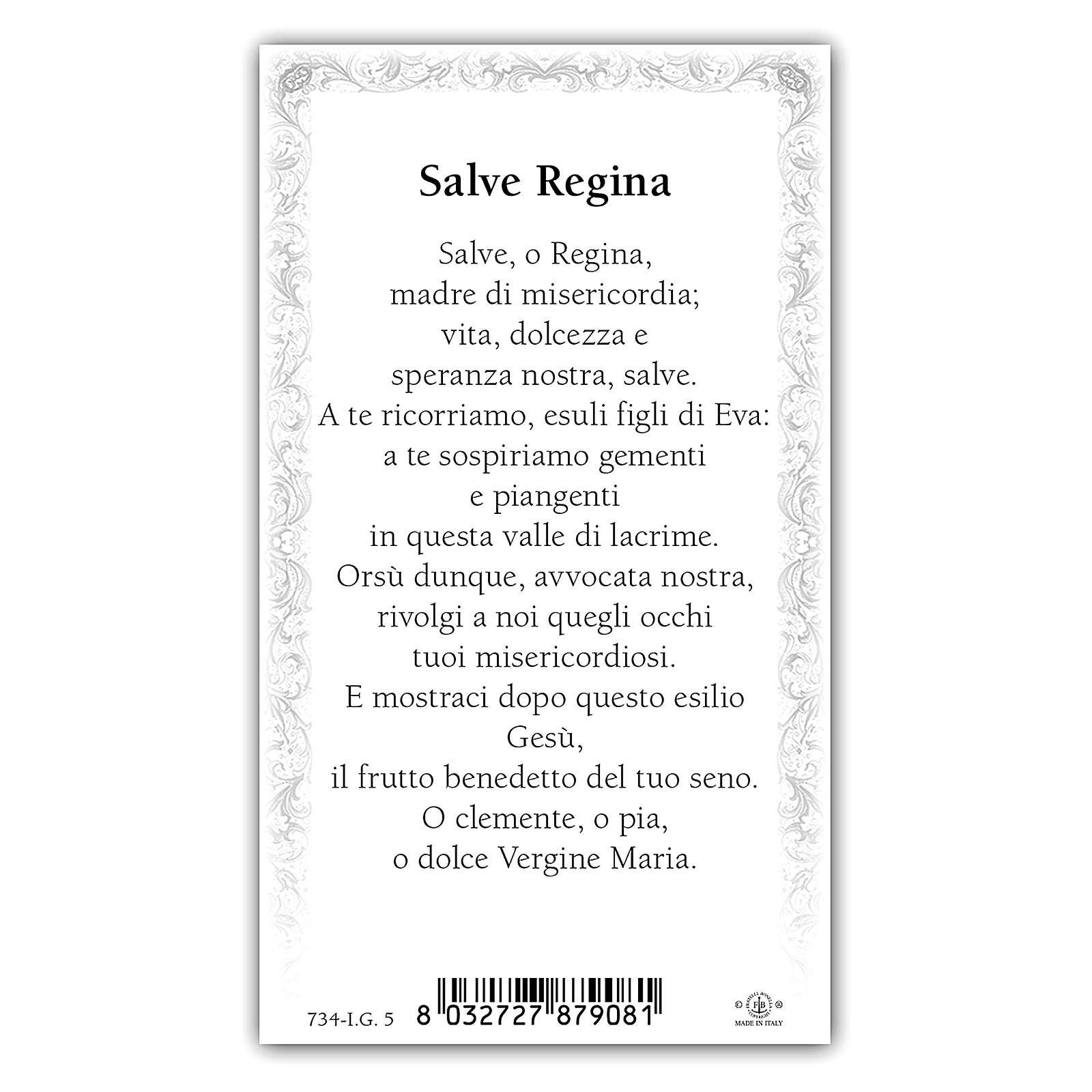 Santino Madonna Incoronata 10x5 cm ITA 4
