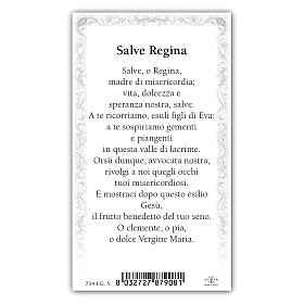 Santino Madonna Incoronata 10x5 cm ITA s2