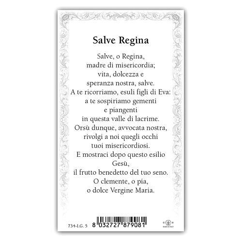 Santino Madonna Incoronata 10x5 cm ITA 2
