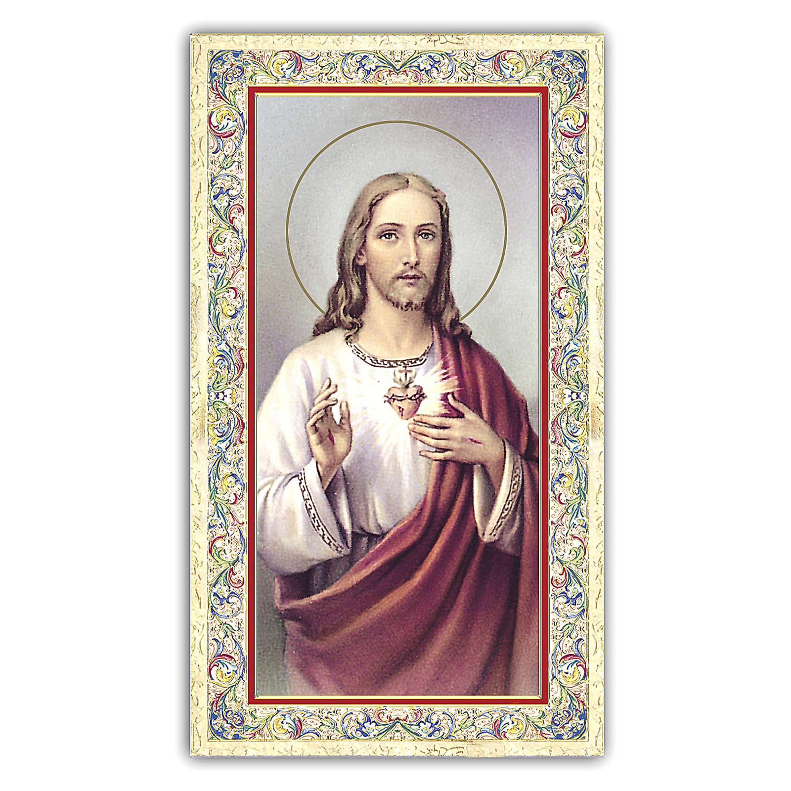 Estampa religiosa Sagrado Corazón de Jesús 10x5 cm ITA 4