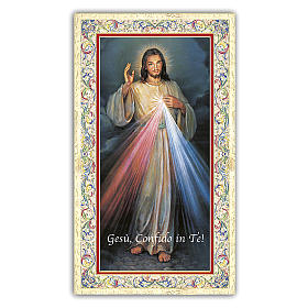 Holy card, Divine Mercy, Chaplet of the Divine Mercy ITA, 10x5 cm s1