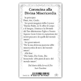 Holy card, Divine Mercy, Chaplet of the Divine Mercy ITA, 10x5 cm s2