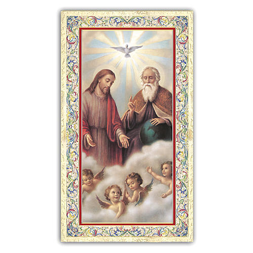 Holy card, Trinity, Glory Be to the Father ITA, 10x5 cm 1