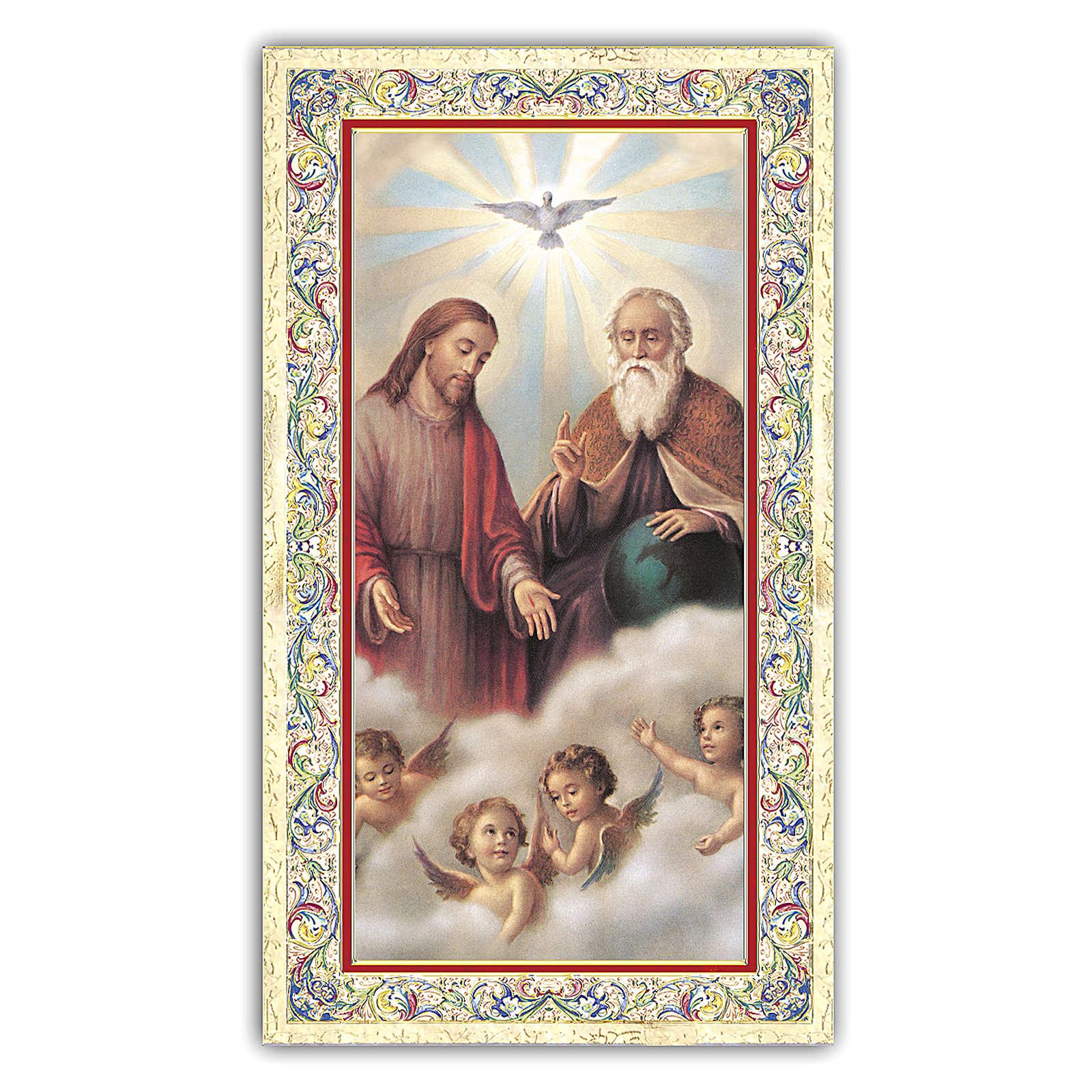 Estampa religiosa Santísima Trinidad 10x5 cm ITA 4