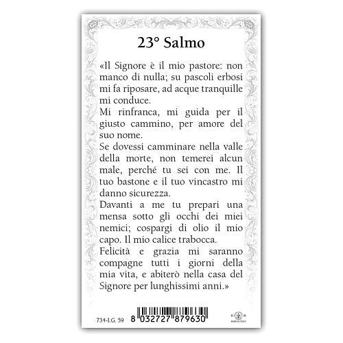 Santino Gesù Buon Pastore 10x5 cm ITA 2