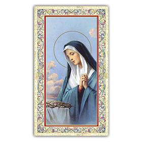 Estampa religiosa Virgen Dolorosa 10x5 cm ITA