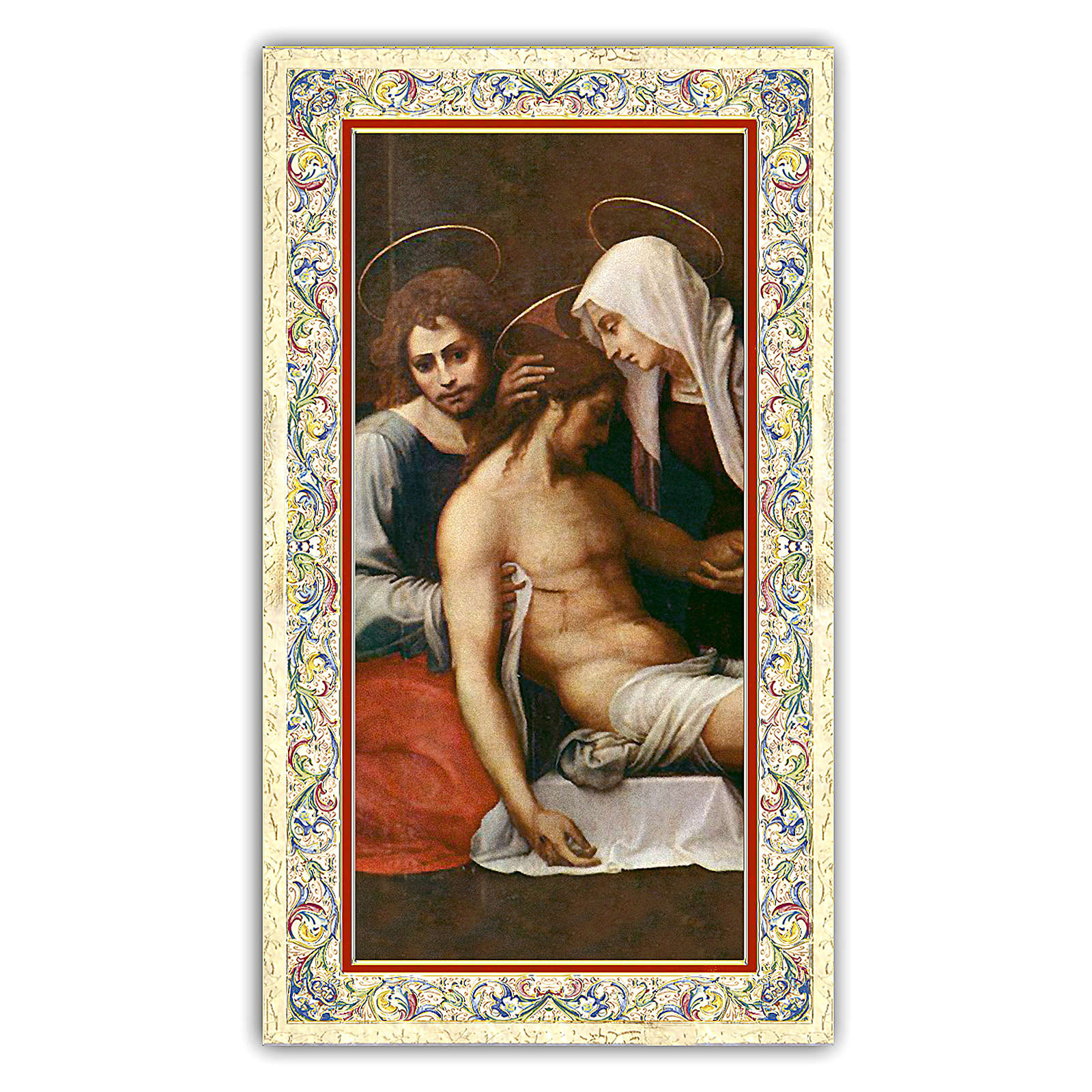 Holy card, Deposition of Christ, Prayer for Those Who Cry ITA, 10x5 cm 4