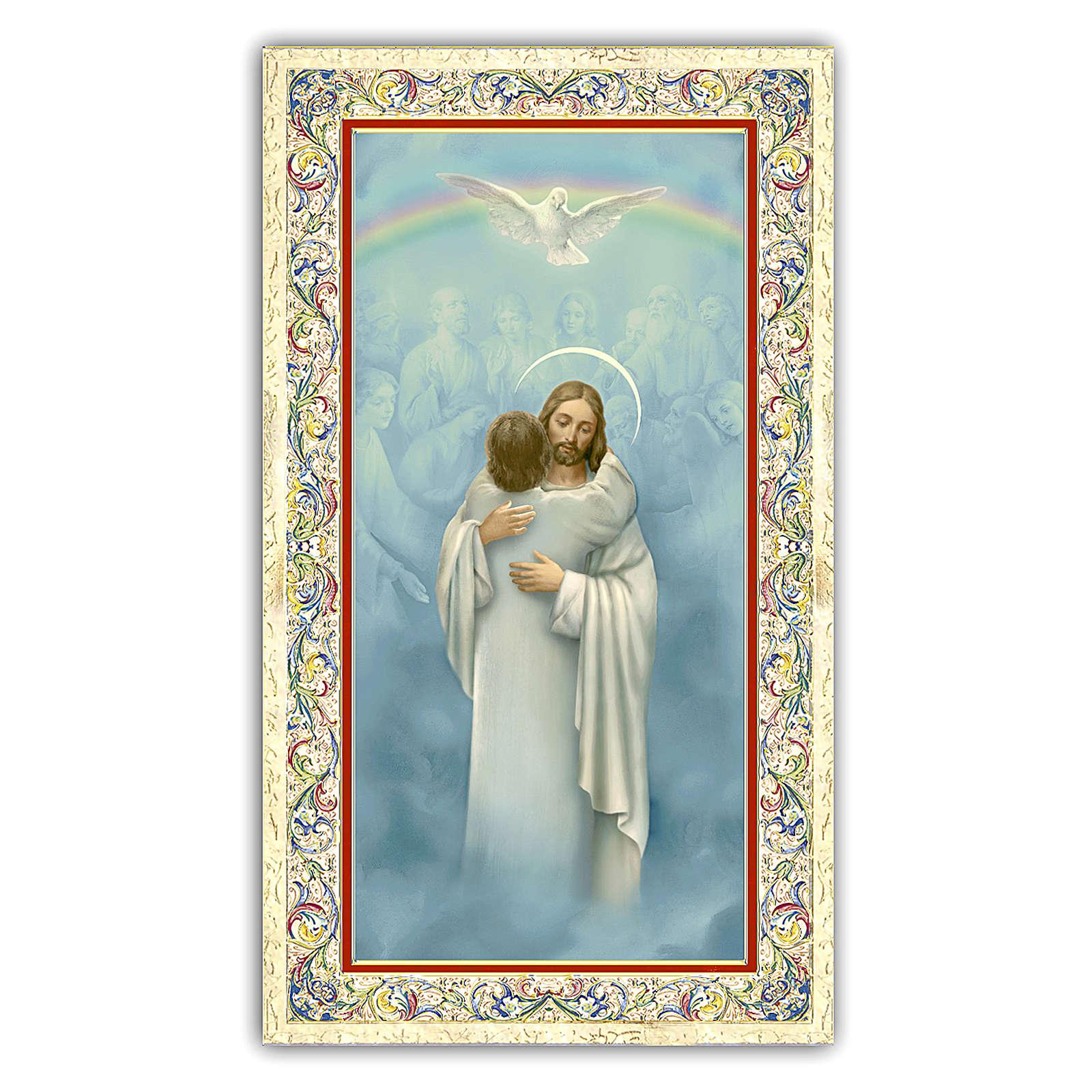 Santino Gesù che abbraccia un Anima 10x5 cm ITA 4