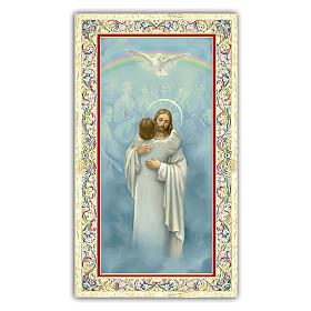 Santino Gesù che abbraccia un Anima 10x5 cm ITA s1