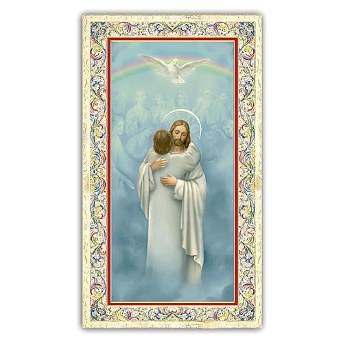 Santino Gesù che abbraccia un Anima 10x5 cm ITA 1