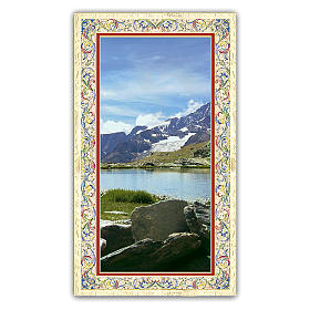 Santino  Panorama Alpino 10x5 cm ITA s1