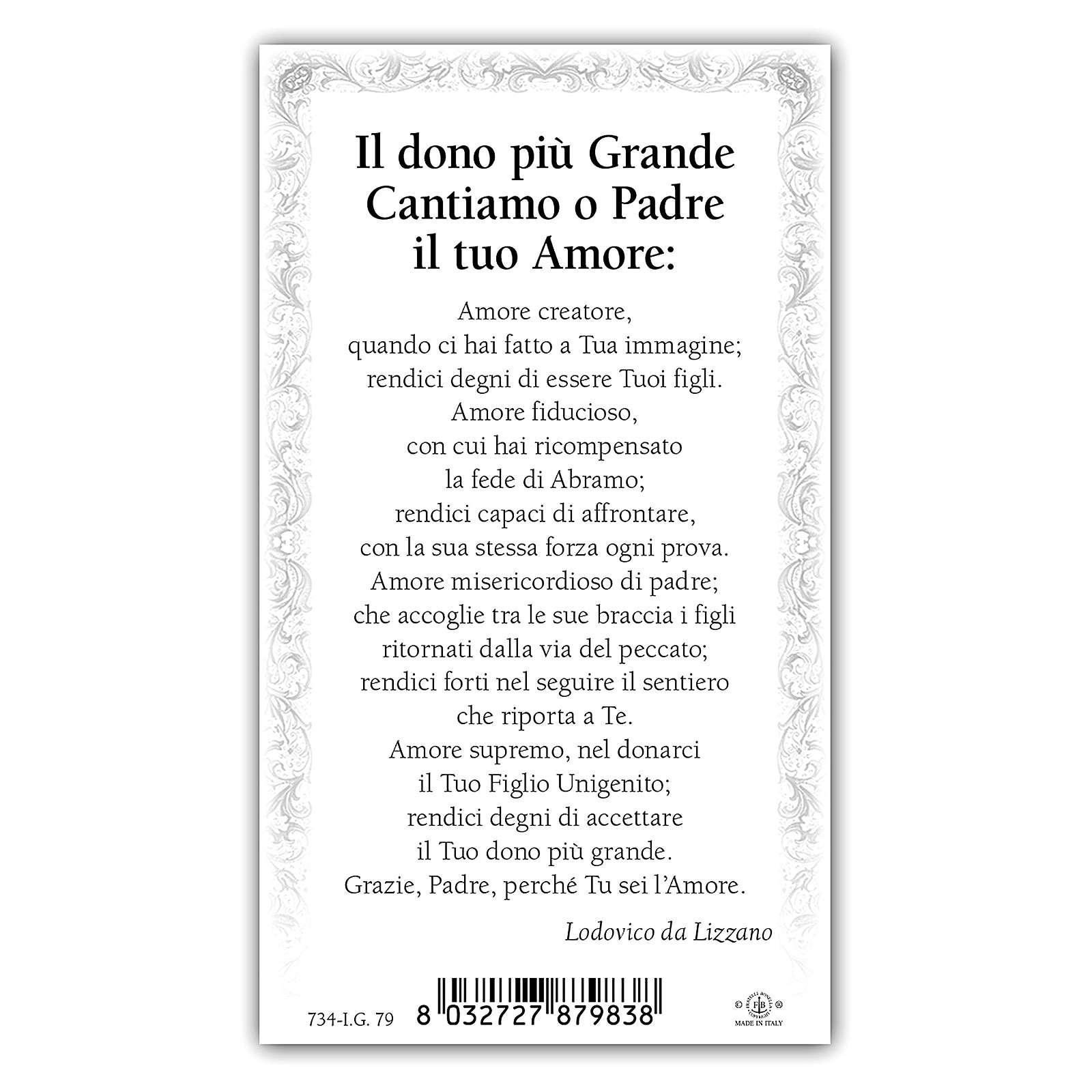 Santino Figliol Prodigo 10x5 cm ITA 4