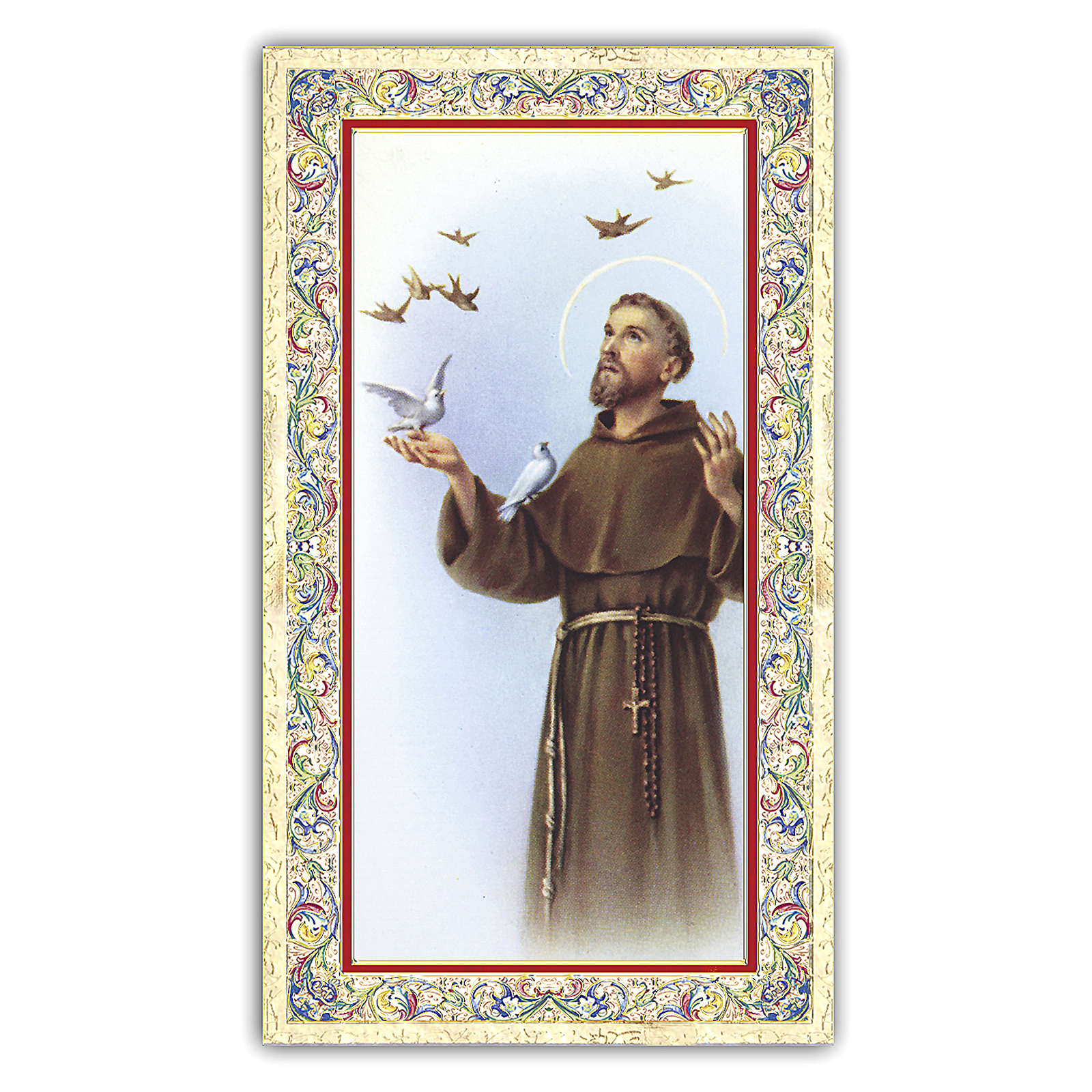 Holy card, Saint Francis, Where There is Charity ITA, 10x5 cm 4