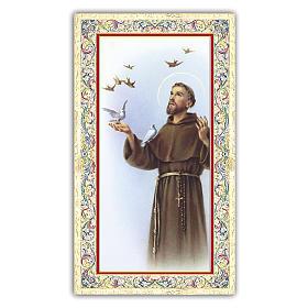 Image pieuse de St François d'Assise 10x5 cm s1